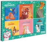 Disney - Disney Animaux - Coffret en 12 volumes : Le Roi Lion, Les Aristochats, les 101 Dalmatiens, Le Livre de la Jungle, Le Monde de Nemo, Bambi + 6 coloriages.