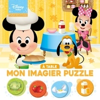 Disney - Disney Baby Mon Imagier Puzzle A table - 20 Pièces.