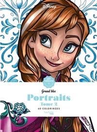 Disney et Capucine Sivignon - Disney Portraits Tome 2 - Grand bloc, 60 coloriages anti-stress.