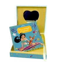 Disney - Disney Princesses Jasmine, Mon coffret secret - Une jolie boîte avec miroir et un carnet d'amitié avec cadenas + 2 clefs.