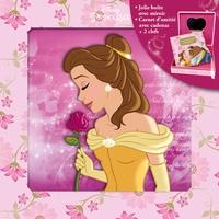 Disney - Disney Princesses, Mon coffret secret - Une jolie boîte avec miroir et un carnet d'amitié avec cadenas + 2 clefs.