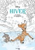 Disney et Audrey Bussi - Hiver - 60 coloriages anti-stress.