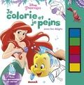 Disney - Je colorie et je peins avec les doigts Disney Princesses - Avec des personnages en carton.