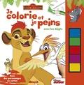 Disney Junior - Je colorie et je peins avec les doigts La garde du roi lion - Avec des personnages en carton.