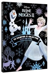 Disney - La Reine des Neiges 2 - 12 cartes à gratter arc-en-ciel.