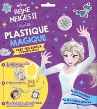 Disney - La Reine des Neiges II Plastique magique Crée tes bijoux et objets déco ! - Les ateliers. Avec 20 modèles et 8 rubans colorés.
