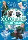 Disney - La Reine des Neiges, Magie des aurores boréales - Mes coloriages avec des stickers.