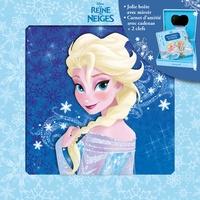 Disney - La Reine des Neiges, Mon coffret secret - Une jolie boîte avec miroir et un carnet d'amitié avec cadenas + 2 clefs.