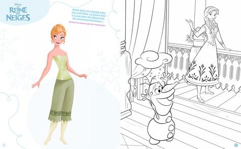 La Reine des neiges Robes féériques. Elsa et Anna. 300 stickers pour habiller tes personnages