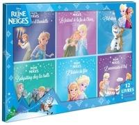 Disney - La Reine des Neiges - Coffret de 12 livres : L'anniversaire d'Olaf ; Le fantôme d'Arendelle ; Babysitting chez les trolls ; Le festival de la fin de l'hiver ; L'histoire du film + 6 coloriages.