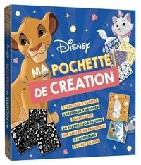 Disney - Ma pochette de création - Avec 3 tableaux à gratter, 3 tableaux à décorer, 120 stickers, 50 strass, 200 sequins, des paillettes argentées, 8 coloriages, 1 stylet en bois.