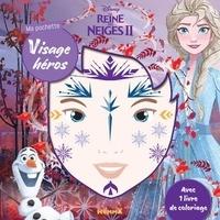 Disney - Ma pochette visage héros Disney La Reine des Neiges II - Stickers déguisement et coloriage.