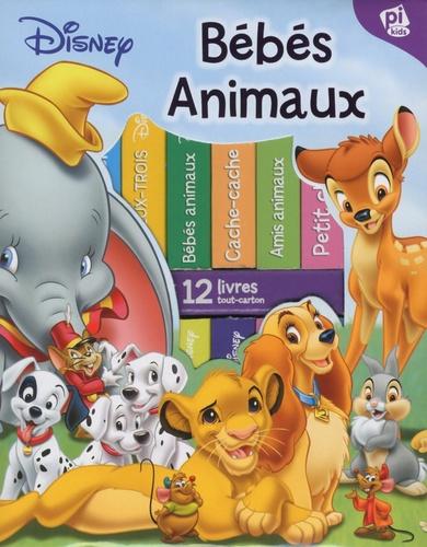 Ma Premiere Bibliotheque Bebes Animaux De Disney Coffret De 12 Livres Tout Carton