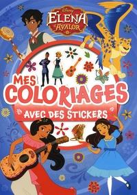 Disney - Mes coloriages avec des stickers Elena d'Avalor.