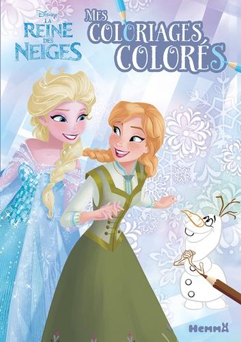 Coloriage Disney Grand Format.Mes Coloriages Colores Disney La Reine Des Neiges Grand Format
