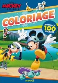 Disney - Mickey et ses amis coloriage - Avec plus de 100 stickers.