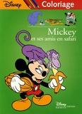 Disney - Mickey et ses amis en safari - Coloriage.