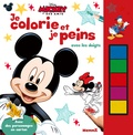 Disney - Mickey et ses amis Je colorie et je peins avec les doigts.