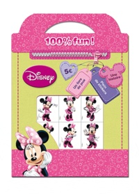 Disney - Minnie 100% fun ! - Un livre de jeux, une histoire, plein de stickers.