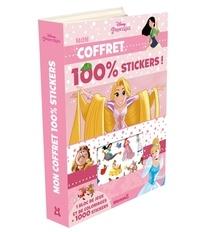 Disney - Mon coffret 100% stickers Disney princesses - Avec 1 bloc de jeux et de coloriages + 1000 stickers.