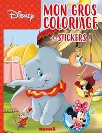 Disney - Mon gros coloriage Dumbo - Avec des stickers.