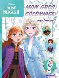 Disney - Mon gros coloriage La Reine des Neiges II - Avec des stickers.