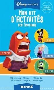 Disney - Mon kit d'activités des émotions - Avec 12 crayons de couleur, 1 bloc de jeux, 1 bloc de coloriages.