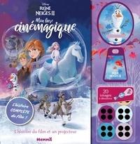 Disney - Mon livre cinémagique La Reine des neiges 2 - L'histoire du film et un projecteur.