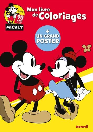 Mon Livre De Coloriages Disney Mickey 90 Ans Avec Un Grand Poster Album