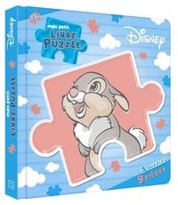 Disney - Mon petit livre puzzle Disney Bambi - 5 puzzles, 9 pièces.