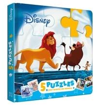 Disney - Mon Petit Livre Puzzle Disney - 5 puzzles, 9 pièces.