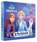 Disney - Mon petit livre puzzle La Reine des Neiges II - 5 puzzles, 9 pièces.