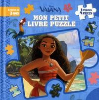 Disney - Mon petit livre puzzle Vaiana, la légende du bout du monde - 5 puzzles, 9 pièces.