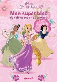 Disney - Mon super bloc de coloriages et d'activités Disney Princesses.