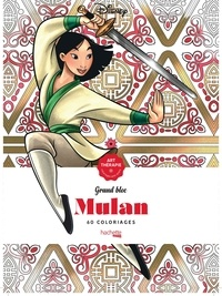 Disney - Mulan - Grand bloc, 60 coloriages.