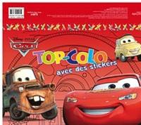 Disney Pixar - Cars - Top-Colo avec des stickers.