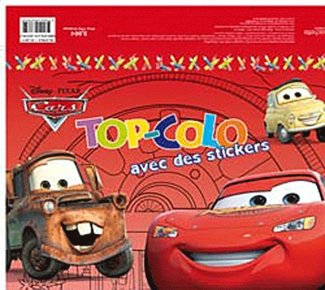Disney Pixar - Cars - Top-Colo avec des stickers.