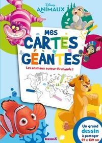 Disney Pixar - Mes cartes géantes. Les animaux autour du monde ! - Un grand dessin à partager 97 x 139 cm.