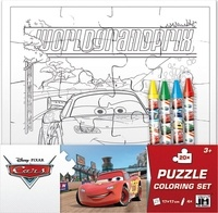 Disney Pixar - Puzzle set créatif Cars - Avec 1 puzzle à colorier et 4 crayons gras.