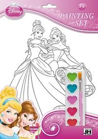 Disney - Set de coloriage Disney Princesses - Avec 1 palette de 6 couleurs à l'eau et 1 pinceau.