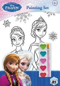 Disney - Set de coloriage La Reine des Neiges - Avec 1 palette de 6 couleurs à l'eau et 1 pinceau.
