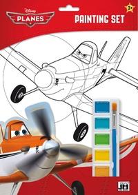 Disney - Set de coloriage Planes - Avec 1 palette de 6 couleurs à l'eau et 1 pinceau.