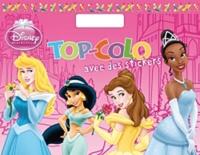 Disney - Top-Colo avec des stickers Princesses.