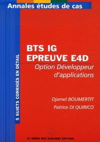 Djamel Boumertit et Patrice Di Quirico - BTS IG Epreuve E4D - Option développeur d'applications.