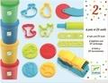 DJECO - 4 pots et 21 outils de pâte à modeler