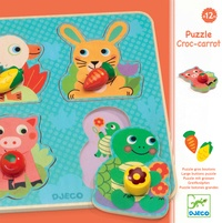 DJECO - Puzzle boutons Croc-Carrot