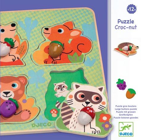 DJECO - Puzzle boutons Croc-Nut