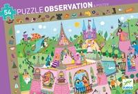 DJECO - Puzzle observation Princesse - 54 pièces