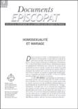 Stanislas Lalanne - Documents épiscopat N° 9/2004 : Homosexualité et mariage.