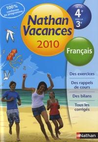 Francais De La 4e Vers La 3e Nathan Vacances Broche